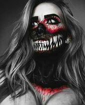 Furchterregende Halloween-Make-up-Ideen, die Sie leicht abziehen können   – MakeUp