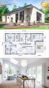 Modern bungalow with gable roof architecture & 4 …