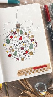 Christmas Bullet Journal Ideas | Wellella Bullet Journal Ideas & Planner Printables