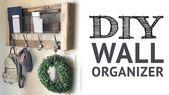 DIY Wall Organizer – YouTube ☺ – ☝This DIY Ent…