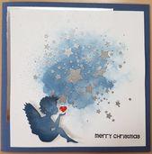 Photo of Star Ink Splatter CYNS309 von Ihrer nächsten Briefmarke; Bold Little Christmas 4407C von Sta …
