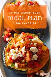 Simple 30-Day Weight-Loss Meal Plan: 1,200 Calories