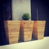 DIY Tall Planters für 20 $ wooden planters