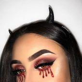 10 teuflische Halloween-Make-up-Looks, die auch Anfänger abheben können