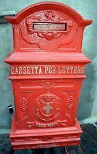 Grande Antica Cassetta Posta Regia 1800 Ghisa Originale Savoia
