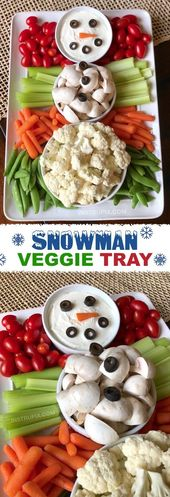 13dd62fa6c778532b512ce3332d8cb4c 3 Easy Make Ahead Xmas Appetizers|Snowman Vegetable Rack! My favored simple ...