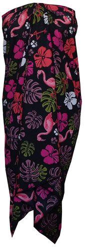 Sarong Women Flamingo Printed Beach Swimsuit Wrap One Size Pareo – Black – CO12NZGGTWR
