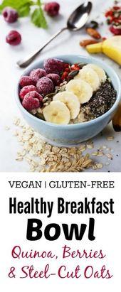 Healthy Quinoa & Oats Breakfast Bowl