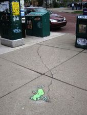 Street art, how's it's supposed to be done.   – David Zinn