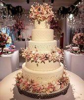 60 fantastische, elegante und schicke Design-Inspirationen für Hochzeitstorten   – Hochzeitstorte