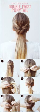 45 Easy Peasy Hairstyle Tutorials for Working MOMs, #working #the #EasyPeasyFrisure …