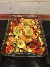 Low Carb Lachs mit Ofengemüse – rezepte kochen
