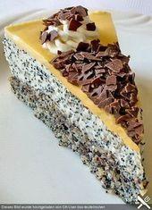 Mohn-Sahne-Torte, ein raffiniertes Rezept aus der Kategorie Backen. Bewertungen …   – GERMAN & AUSTRIAN SWEETS