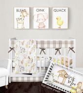 Crib Bedding Set Farm Animal Nursery Bedding Gender Neutral Farmhouse Baby Bla Baby 2020