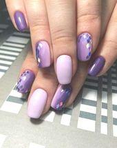 36+ Trendy Nails Design Lila Ombre, #Design #Nails # Ombré #Purple #Trendy