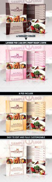 Modern & Elegant Restaurant Food Menu Flyer An elegant & modern, Its very easy t…