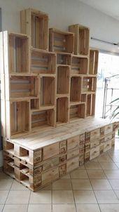 Idées de palettes en bois pour l. a. palette en bois – – # diymöbel