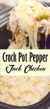 CROCK POT PEPPER JACK CHICKEN – OMG EAT !!!