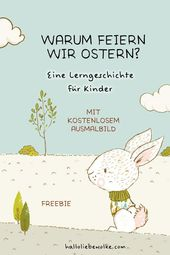 Prinzessin Blaublüte feiert Ostern (Lerngeschichte mit Ausmalbildern) – Kinder   Ostern