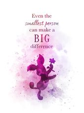 Piglet Quote ART PRINT Winnie the Pooh, Gift, Nursery, Wall Art, Home Decor, dis…