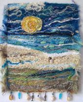 Fiber Art Quilts-Beachscape Great ideas for incorporating driftwood