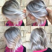 Cabelo grisalho / loiro Cabelo grisalho / loiro Cabelo loiro com prata   – I Love Your Hair