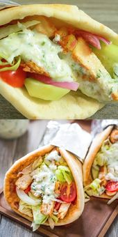 Chicken Gyro – an easy-to-prepare sandwich, ideal for lunches and evenings …