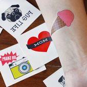 Machen Sie lustige temporäre Tattoos für weniger als 10 US-Dollar! Laden Sie einfach das kost… – Tätowierung Blog