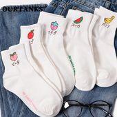 Japanese Fruit Embroidered Socks SD00679
