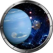 12″ Porthole On the spot Outer House Ship Window View Planet Neptune #1 Silver Wall Sticker Children …