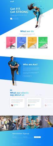 Diseño web moderno para Extreme Athlete Company en Behance   – WordPress Divi Themes
