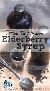 How to Make Elderberry Syrup 1