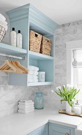 55 Amazing Farmhouse Laundry Room Decorating Ideas – DoMakeover.com