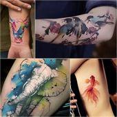 Aquarell Tattoo Designs  Aquarell Tattoo Technik und Nachsorge    Tattoos and bo… – Tattoo