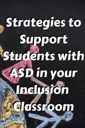 Supporting College students with Autism within the Inclusion Setting