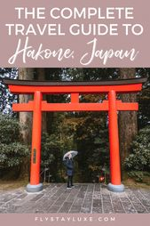 A Full Information to Hakone, Japan