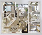 Drei Schlafzimmer Apartments Ideen – Die moderne g…