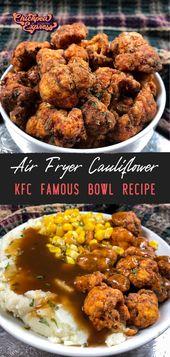 Vegan KFC Air Fryer Blumenkohl und Copycat KFC Bowl Rezept   – Essen
