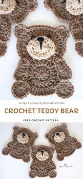 Häkeln Sie Teddybär kostenlose Häkelanleitung   – Babys Blog