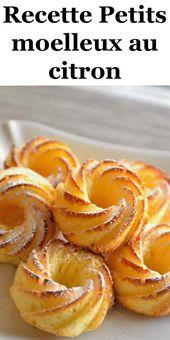 Pinit.Link - Recette Petits moelleux au citron