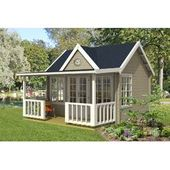 530 Cm X 450 Cm Gartenhaus Glen Gartenhaus Gartenhaus Mit Terrasse Haus