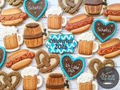 Oktoberfest 2016 cookies for our family's party today! #sugarcookie #cookies #ok…