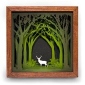 Shadow Box Artist Creates Nature-Inspired Wood Art Made from Layers of Oak