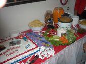 high school graduation party food table