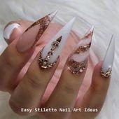 30 große Stiletto Nail Art Design-Ideen #nailideas #nail – Nails   – nailart