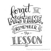 Oubliez l'erreur, rappelez-vous la leçon – Typographie