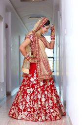 Letest Collection Wedding Wear Red Bangloury Satin…