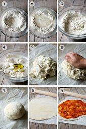 Masa de pizza instantánea: sin levadura, sin levadura