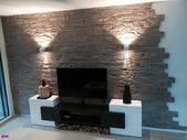 Decorative stone wall living room 26 Fresh photo about decoration