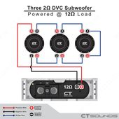 2 Ohm Dvc Subwoofer Speakers Are Rated At 2 Ohm At Each Pair Of Terminals And Connecting Three Pieces In Series F With Images Subwoofer Wiring Subwoofer Subwoofer Speaker